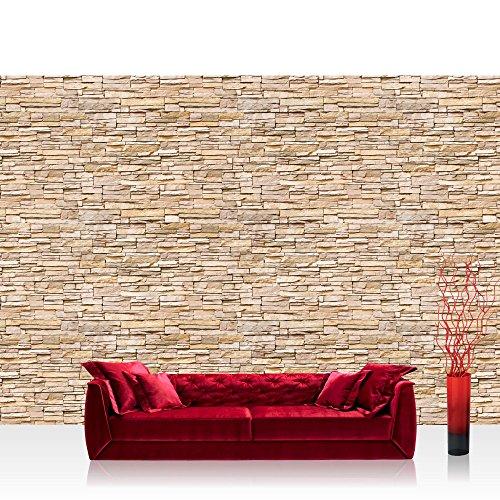 Textil Tapete Ueberstreichen : ELINKUME PVC 3D Effekt Fototapete Tapete Steinmauer Steine Steinwand