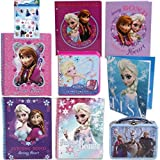 Disney Frozen Back To School Value Stationary Set For Kids - 3 Spiral Notebooks (In 3 Fun Designs -