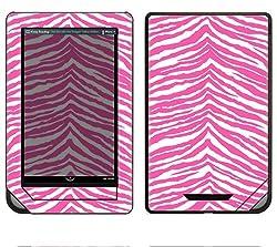 Barnes & Noble Nook Color Decal Skin - Pink Zebra