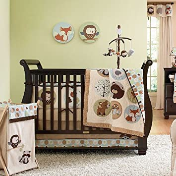 Cool Forest Friends Piece Baby Crib Bedding Set with Bumper by Carters