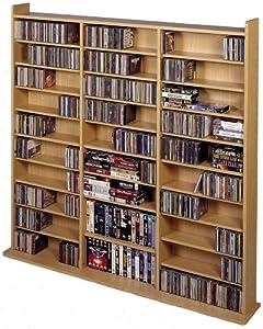 Vinyl Veneer High Capacity Wall Rack (CD-1500 Series) Oak