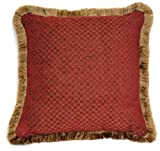 Austin Horn Classics Verona 18-Inch Square Pillow Red