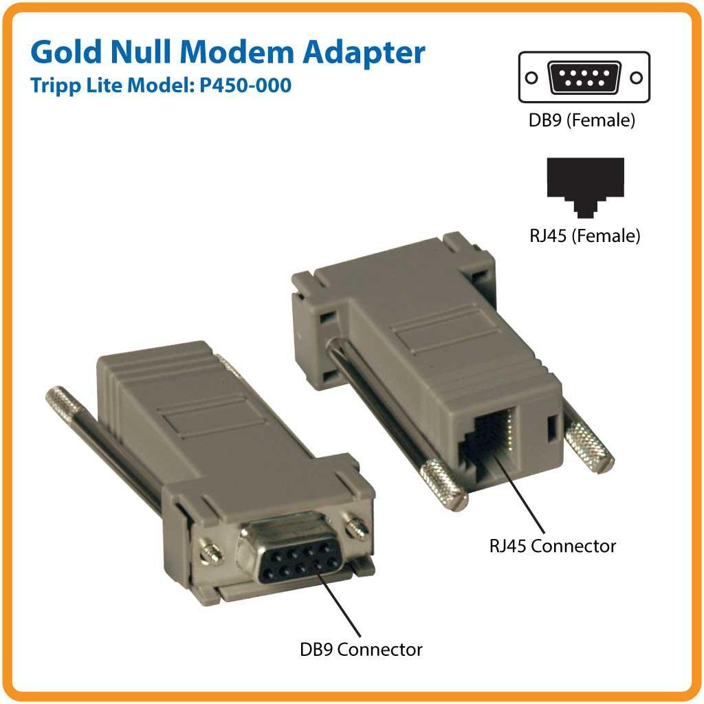 tripp lite null modem serial rs232 modular. Black Bedroom Furniture Sets. Home Design Ideas