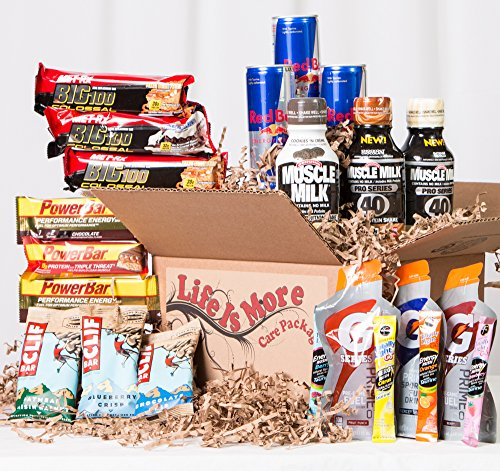 Ultimate Workout Care Package - College Student / Military - Health Food Basket - Energy - Protien Bars - Recovery
