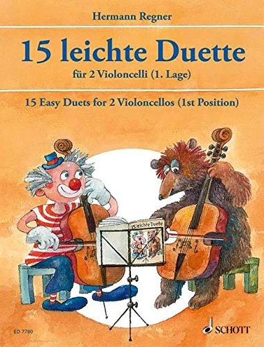 Leichte Duette(15) - 2 Violoncelli - Book