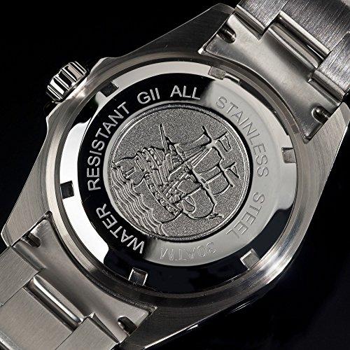 Gigandet Automatik Herren-Armbanduhr Sea Ground Vintage Taucheruhr Uhr Datum Analog Edelstahlarmband Schwarz Silber G2-007 6