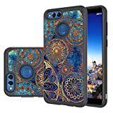Honor 7X Case, LEEGU [Shock Absorption] Dual Layer Heavy Duty Protective Silicone Plastic Cover Rugged Case for Huawei Honor 7X - Gear Wheel