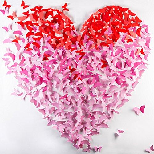 Consigue wandkings mariposas en estilo 3d de color rosa - Mariposas para decorar paredes ...