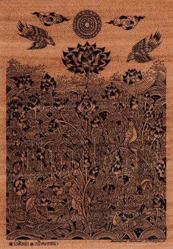 Amorn Gallery Thailand Art Buddha Picture 水の中からロータス ビンテージ クラシック ポストカード