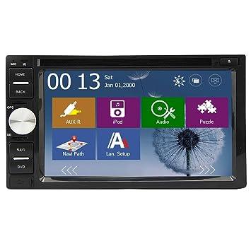 2016 Date Double Din voiture lecteur DVD GPS Navigation 2 din šŠcran tactile Headunit en voiture Dash Video Audio Radio Avec systššme stšŠršŠo automatique de voiture Bluetooth USB SD