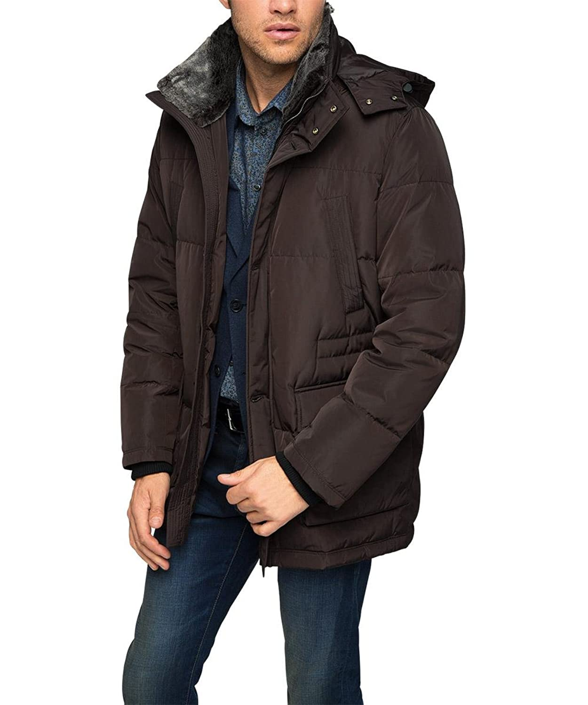 ESPRIT Collection Herren Jacke mit abnehmbaren Fellkragen kaufen