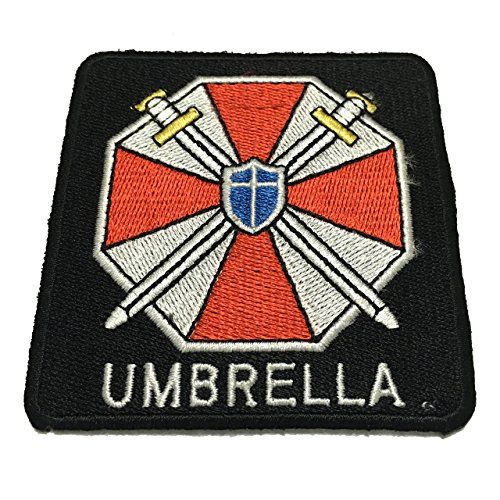 Resident Evil Umbrella Patch Corporation Logo Applique Embroidered Sew Iron On Patch - Clothing Shirts Pants Novelty Iron on with heat or sew on - Decorate Bags Caps Towels - Safe Non-toxic - 100% (Cheer Bows One Direction compare prices)