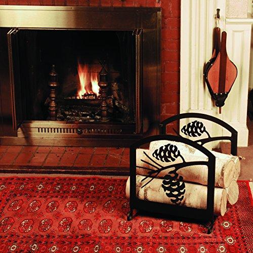 iron moose fireplace indoor firewood rack heavy