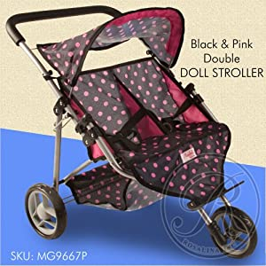 Amazon.com: Rosalina Black Doll Double Stroller: Toys & Games