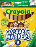 Crayola 8 Count Washable Multicultural Colors Conical Tip Markers