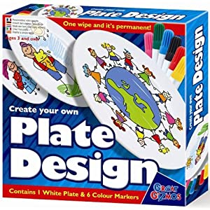 Great Gizmos Create Your Own Plate Design with Pens