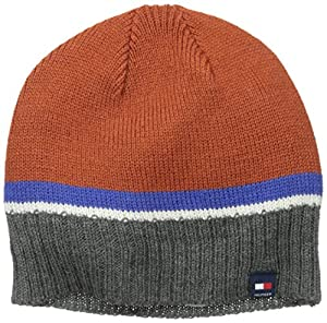 Tommy Hilfiger Men's Basic Hat with Tommy Logo, Burnt Orange, One Size