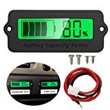 Icstation Voltage Capacity Tester Module 12V 24V 36V 48V Lithium Battery Status Indicator for Car Vehicle Skateboard LCD Digital Power Capacity Monito