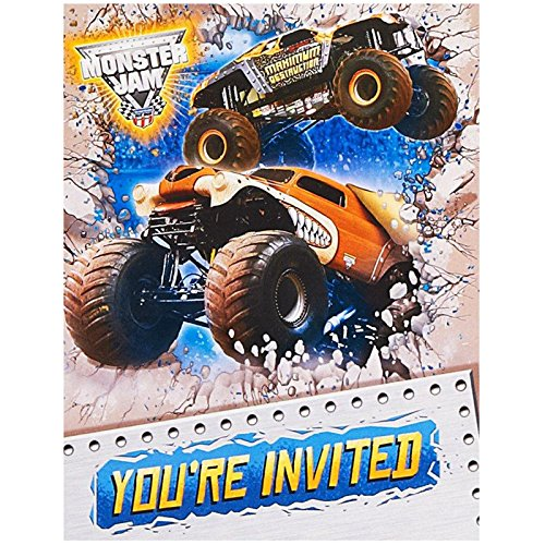 Monster Jam 3D Invitations (8) by Party Destination