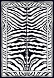 Home Dynamix Zone 7160-450 Ebony 5-Feet 2-Inch by 7-Feet 4-Inch Zebra Area Rug