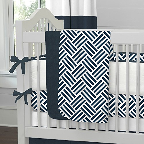 Navy And White Baby Bedding 7584 front