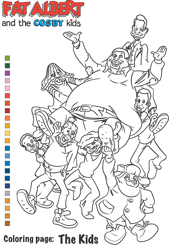 fat albert coloring pages fat kids like chaz free coloring pages