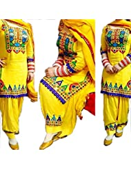 Vatsla Heavy Panjabi Patialas Heavy Work Salvar Suit Sets