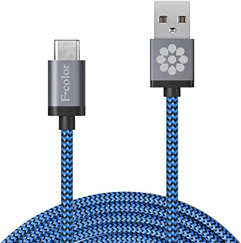 F-color 6.6-Ft Braided Type-C to A Cable