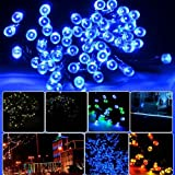 Lycheers® Blue Solar Power 11m 33ft 60 LED Solar Fairy String Lights for Outdoor Room Garden Home Christmas Party Decoration Waterproof (Blue)