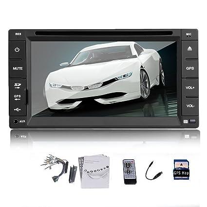 Double 2 din 6,2 '' HD Navigation GPS StšŠršŠo Lecteur de DVD Radio iPod Bluetooth