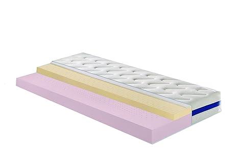 Badenia Bettcomfort 03888750143 Kaltschaummatratze mit Viscoauflage Klimaflex H3 140 x 200 cm weiß