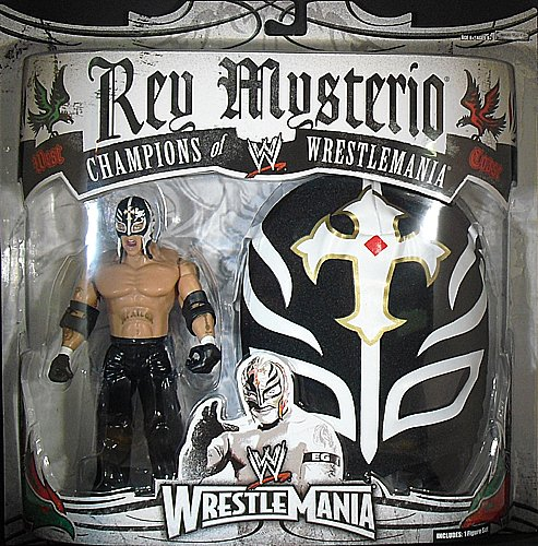 Halo On Sales Rey Mysterio Black Mask Wwe Toy