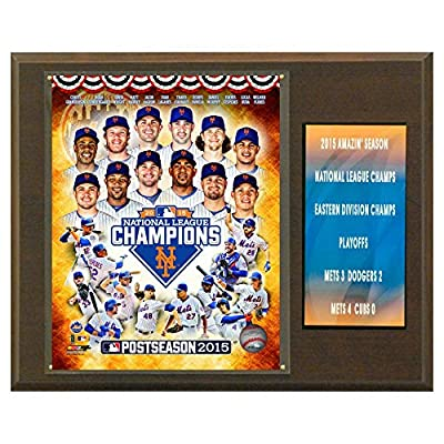 C and I Collectables MLB 15W x 12H in. New York Mets 2015 National League Champs Plaques