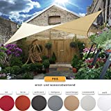 CelinaSun-0010529-Sonnensegel-Sonnenschutz-Garten-UV-Schutz-PES-wasser-abweisend-imprgniert-Dreieck-3-x-3-x-3-m-hell-grau