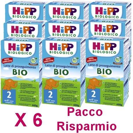 latte Hipp 2 da 600 grammi X 6 Confezioni - Pacco Convenienza
