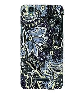 Fuson 3D Printed Pattern Designer Back Case Cover for Yu Yureka Plus - D1035