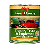 Majic Paints 8-0962-2 Town & Country Tractor, Truck & Implement Oil Base Enamel Paint, 1-Quart, Caterpillar Yellow (Color: Caterpillar Yellow, Tamaño: Quart)