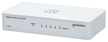 Switch réseau RJ45 Manhattan 5 ports 1 Go/s