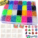 9100 Premium Quality Bundle, Talented Kidz Rainbow Rubber Bands Refill & Storage Organizer Loom: 8500 Bands in 28 Colors, 12 Charms, 500 Clips & 100 Beads. Case With Lid Included. This Is The Authentic Mega Box Organizer Loom. Talented Kidz Exclusive!