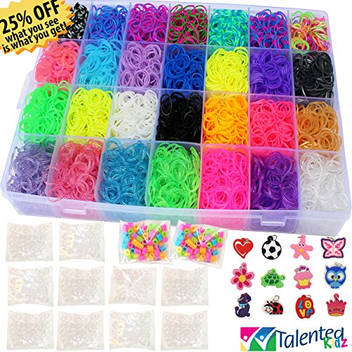 9100pc Authentic Rainbow Loom Rubber bands for Bracelets