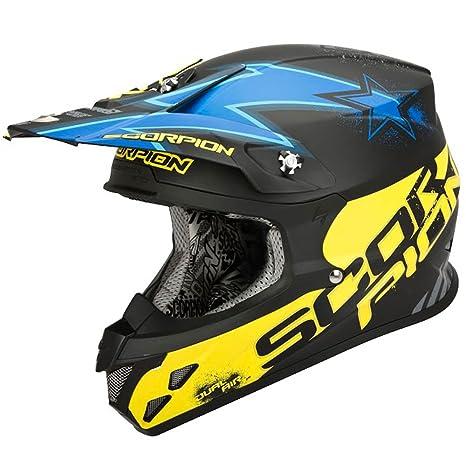 Scorpion aIR mAGNUS 20 vX-casque-noir mat/bleu/jaune