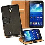 OneFlow PREMIUM - Book-Style Case im Portemonnaie Design mit Stand-Funktion - f�r Samsung Galaxy S4 Active (GT-i9295) - SCHWARZ