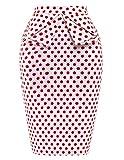 PrettyWorld Vintage Dress Grace Karin Slim Vintage Pencil Skirts For Women Cotton Floral CL008928