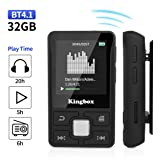 MP3 Player, 32GB Music Player with BT 4.1, Audio Walkman with Wearable Clips Support E-Book/Voice Recorder/FM Radio/Photo Viewer, Expandable Up to 128 GB