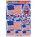 Beistle 55834 Patriotic Clings, 12 by 17-Inch