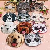 猫ヘッドコインバッグレディ財布子供のコイン電話ポーチ(ランダム:サイズ)