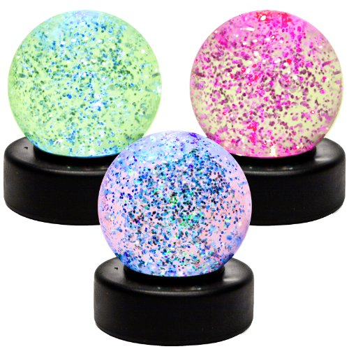Lounge Monkey TM Color Changing Glitter Ball 3 Inch Assorted Colors
