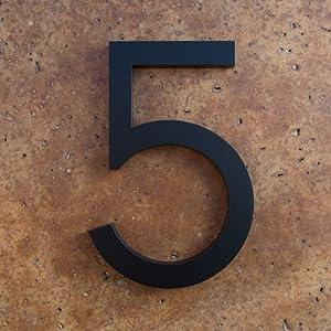 Modern House Number Black Color Aluminum