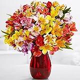 100 Birthday Blooms Bouquet (Peruvian Lilies) - Flowers
