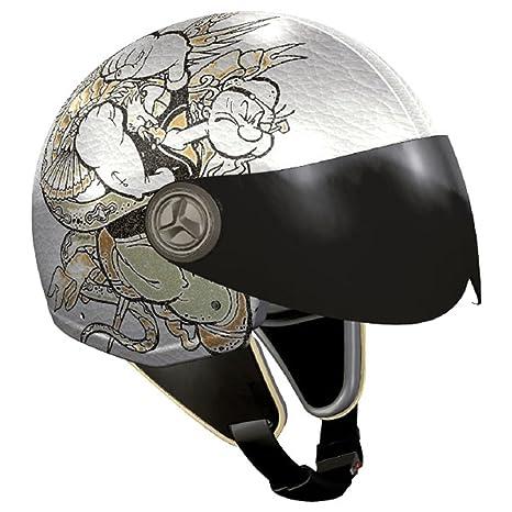 NZI 490022G577 Vintage II Tattoo Casque de Moto, Illustration Popeye, Taille : XL